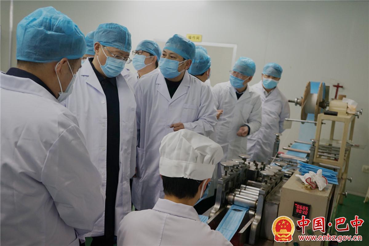何平带队督导调研恩阳区、南江县新型冠状病毒感染的肺炎疫情防控工作